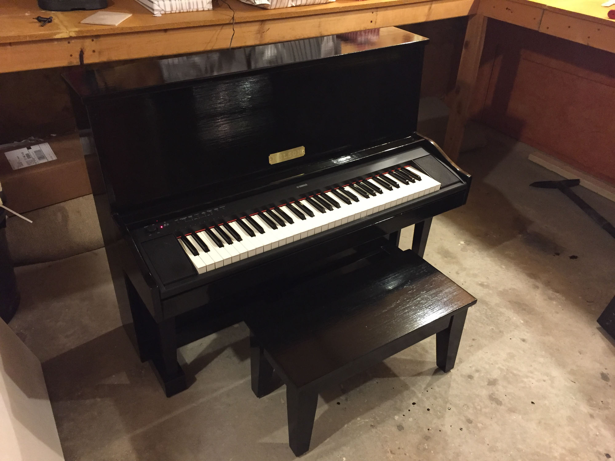 Finished piano