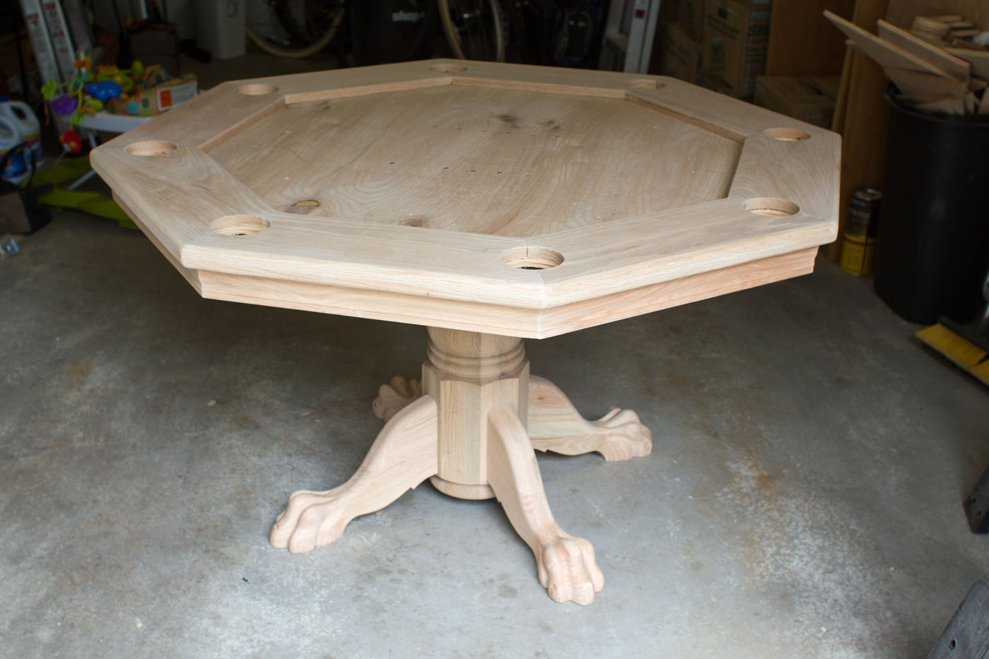 octagon poker table part 5 finishing it up brian nelson